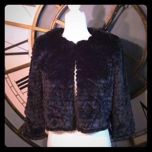 NWT Calvin Klein Textured Faux Fur Jacket